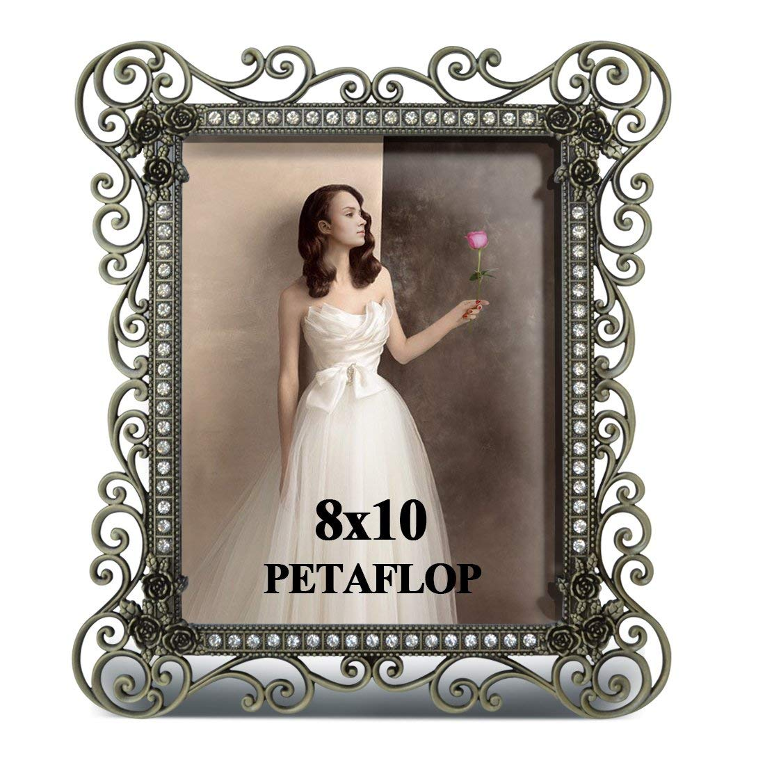 PETAFLOP 8x10 Vintage Picture Frame Hollow up Metal Frames for 8 by10 inch Photo