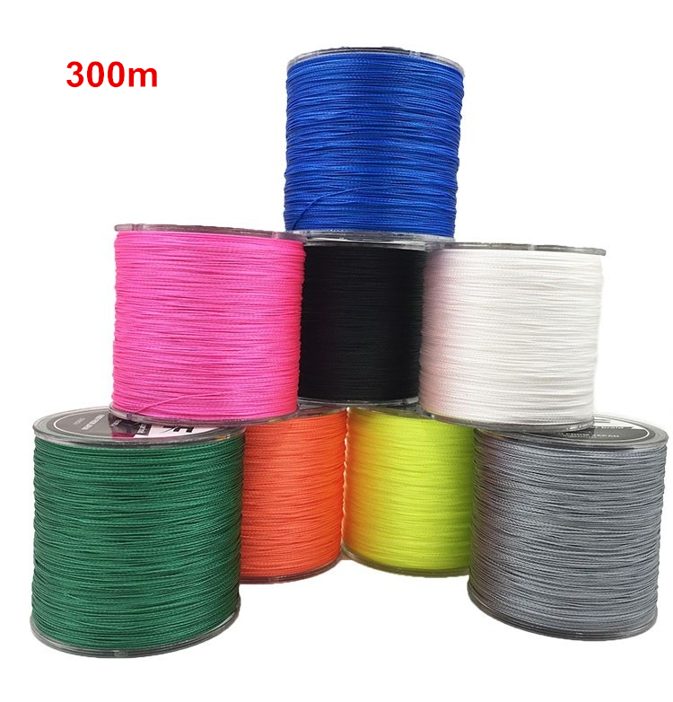 300m Generic 100% PE 4 Braided Wire Fishing Line 8lb - 150Lb Test Multi Colors Fiber Line