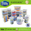 easylock high quality transparent plastic airtight container