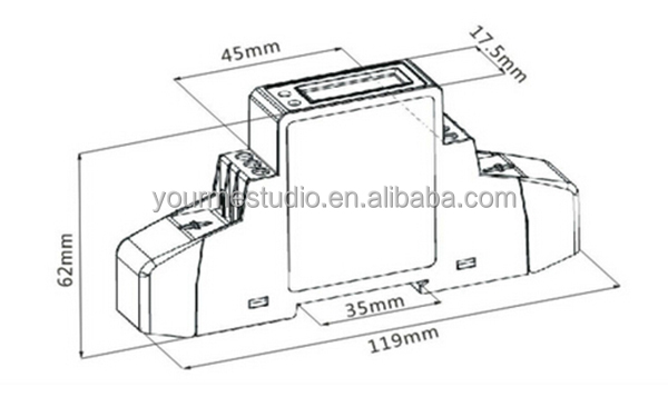 mini lcd digital single phase modubus rs485 electric