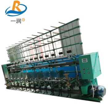 High-speed twisting and spooling machine