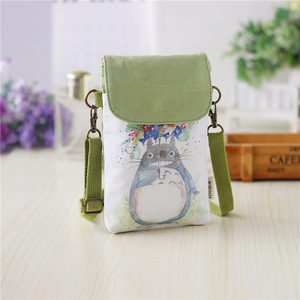 New Design Mobile Phone Shoulder Crossbody Bag Cellphone Purse Canvas Pouch Bag
