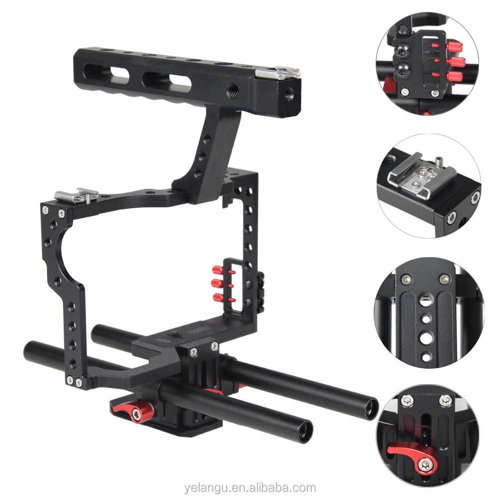 YELANGU Film Equipment Video Camera Cage For DSLR Camera GH4,A7S