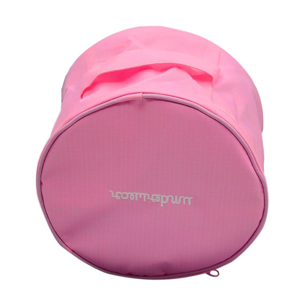 Multifunctional Portable Round Shape Travel Handbag Bra Underwear Storage Handbag Travel Cosmetic Makeup Wash Bag Toiletry Bag Pink