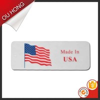 Plastic PVC Screen Printing Custom World Flag Printed Hang Tag