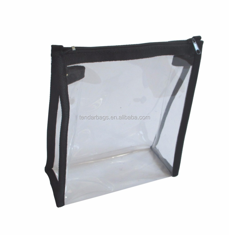 Cosmetics Companies Manufacture Clear PVC Bag Vinyl Zipper Bags