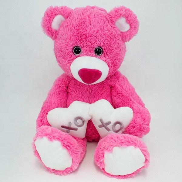 Картинка мишка плюшевый розовый