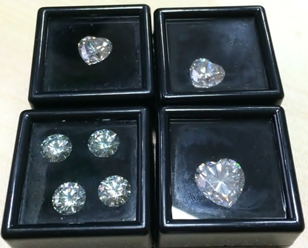 White Clear Round Moissanite Jewelry Cheap Price <strong>Stone</strong> in Stock