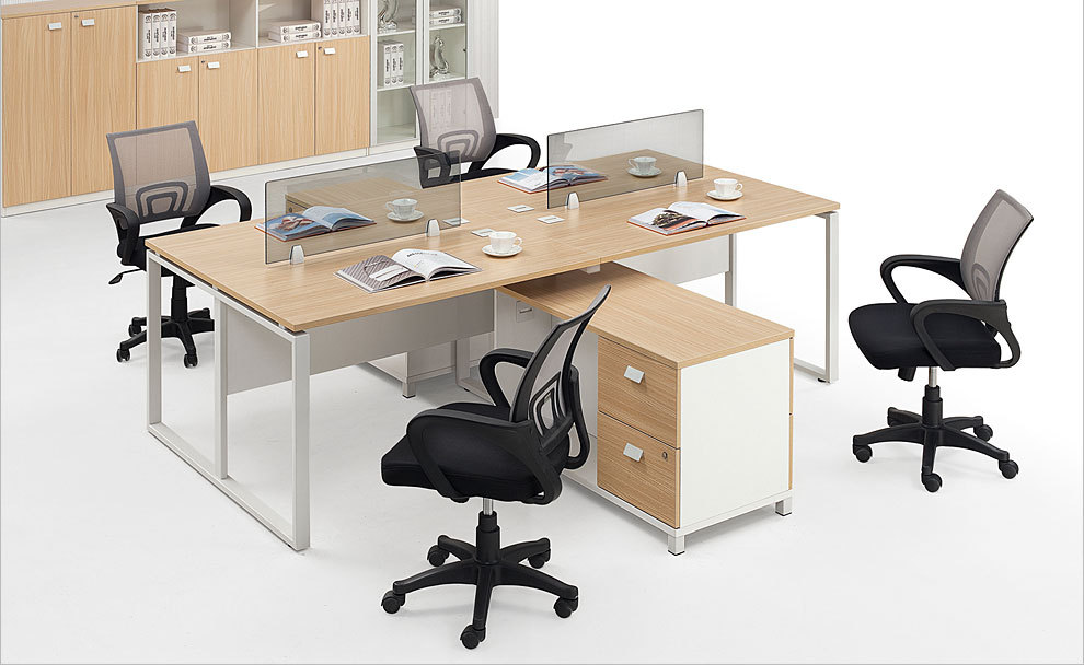 4 Person Office Desk With Partition For 4 Person 4 People Office