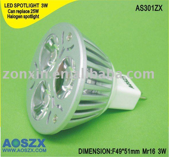 GU10 E27 MR16 3W 4W LED Spot light led recessed <strong>spotlight</strong>