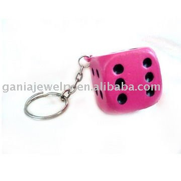 Rose Dice Key Chain