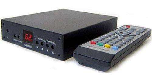 Professional RF Coax to Composite Video Stereo Demodulator TV Tuner (NTSC Version)