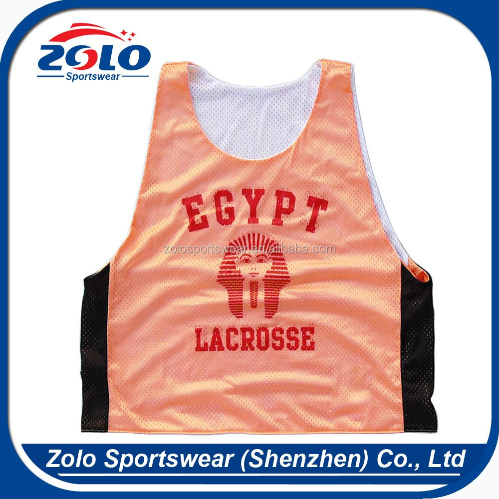 Cheap Sublimation Printing Adults Mens Custom Lacrosse Pinnies