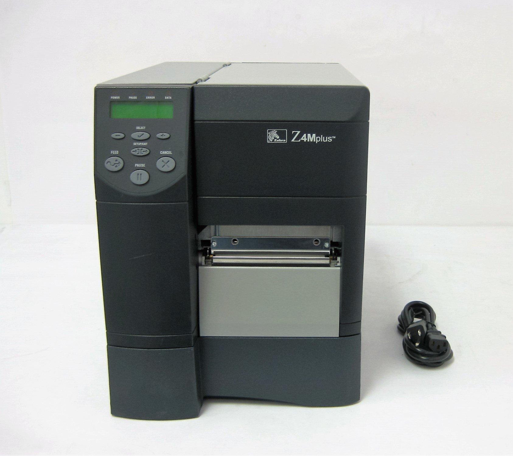 ZEBRA Z4M Plus Z4M00-2001-0000 Z4M+ 203dpi Thermal-Transfer Barcode Label Tag Printer
