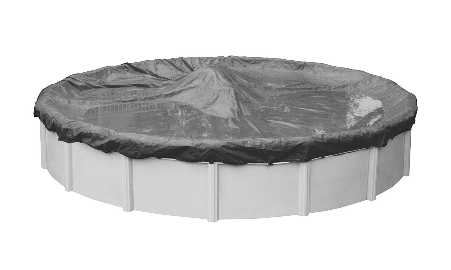 Pool Mate 5124-4-PM 20-Year Professional-Grade Winter Round Above-Ground Cover, 24-ft, Charcoal