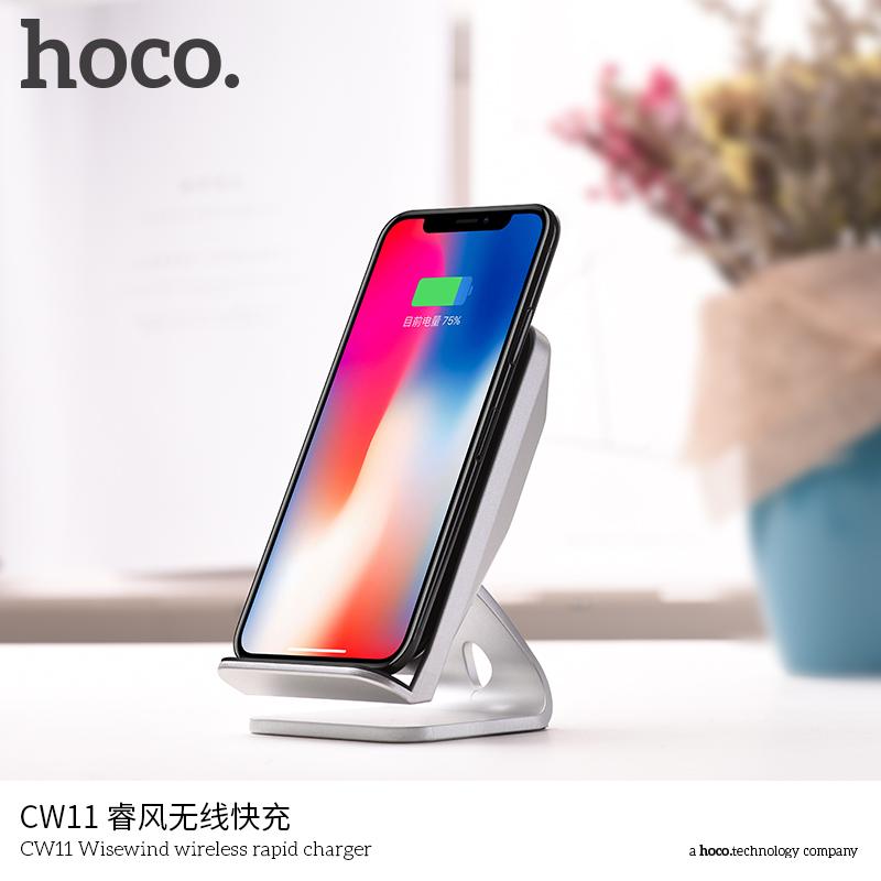 2018 Hoco CW11 10 W Wireless Cepat Charger untuk Smartphone
