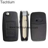 2 button key flip remote key blank shell for Chery