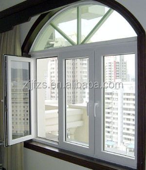 Aluminum Inward Opening Windows With Arch Top