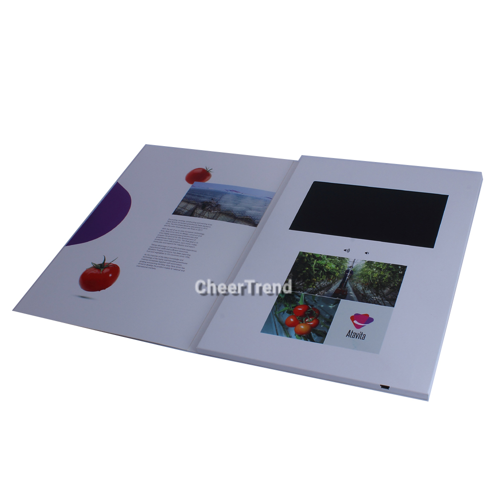 factory hot sales 7 inch lcd monitor with sd card wedding cards invitation booklet