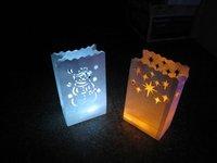 LED Tea Light Candle Luminary Bag