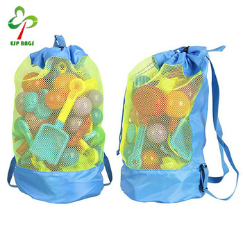 Kids Clothing Toy Storage Bag For Children Mesh Drawstring Swimming Backpack