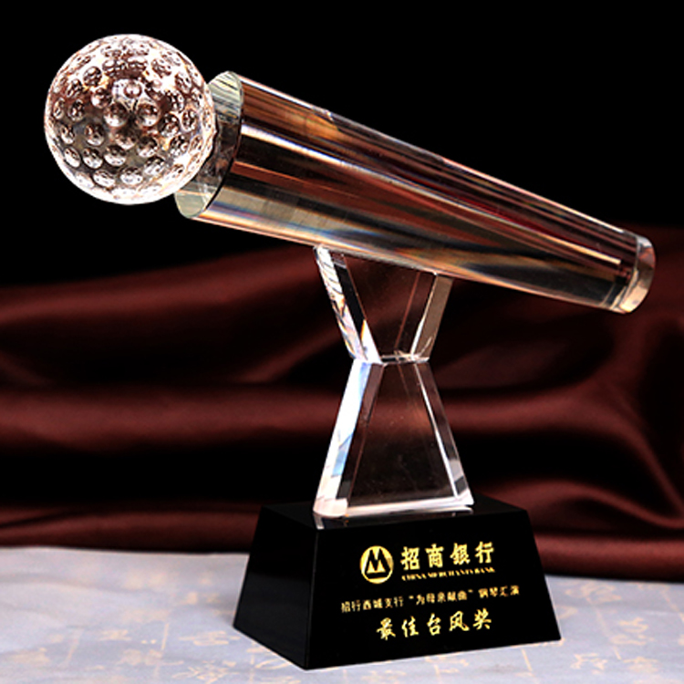 K9 singing trophy music cup trophy prize crystal trophy for souvenir