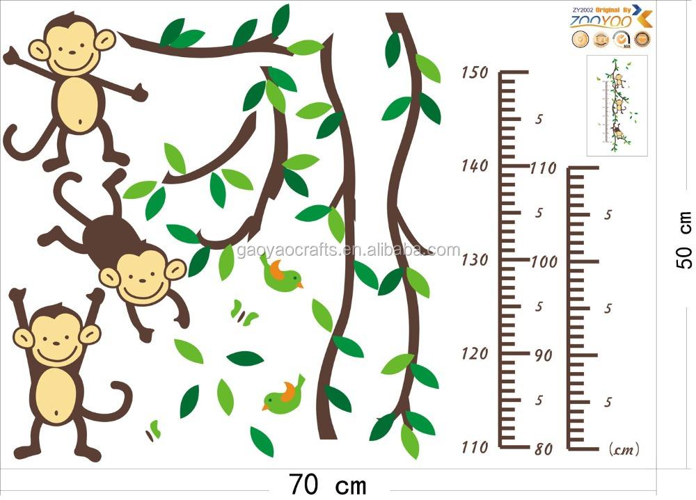 Venta caliente al por mayor animales de dibujos animados mono altura ...