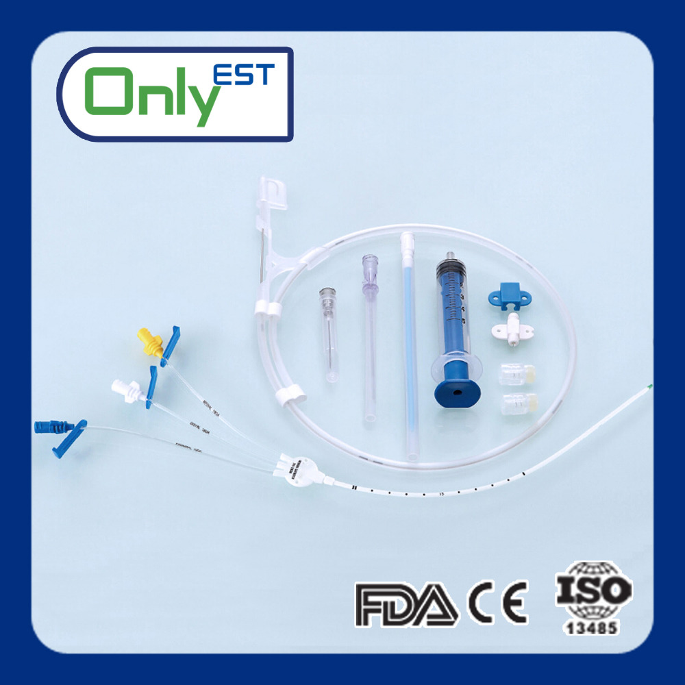 CE mark safety PU material central venous catheter CVC kit single use