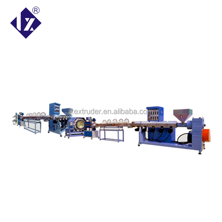 double screw plastic PVC yarn hose extrusion making machine