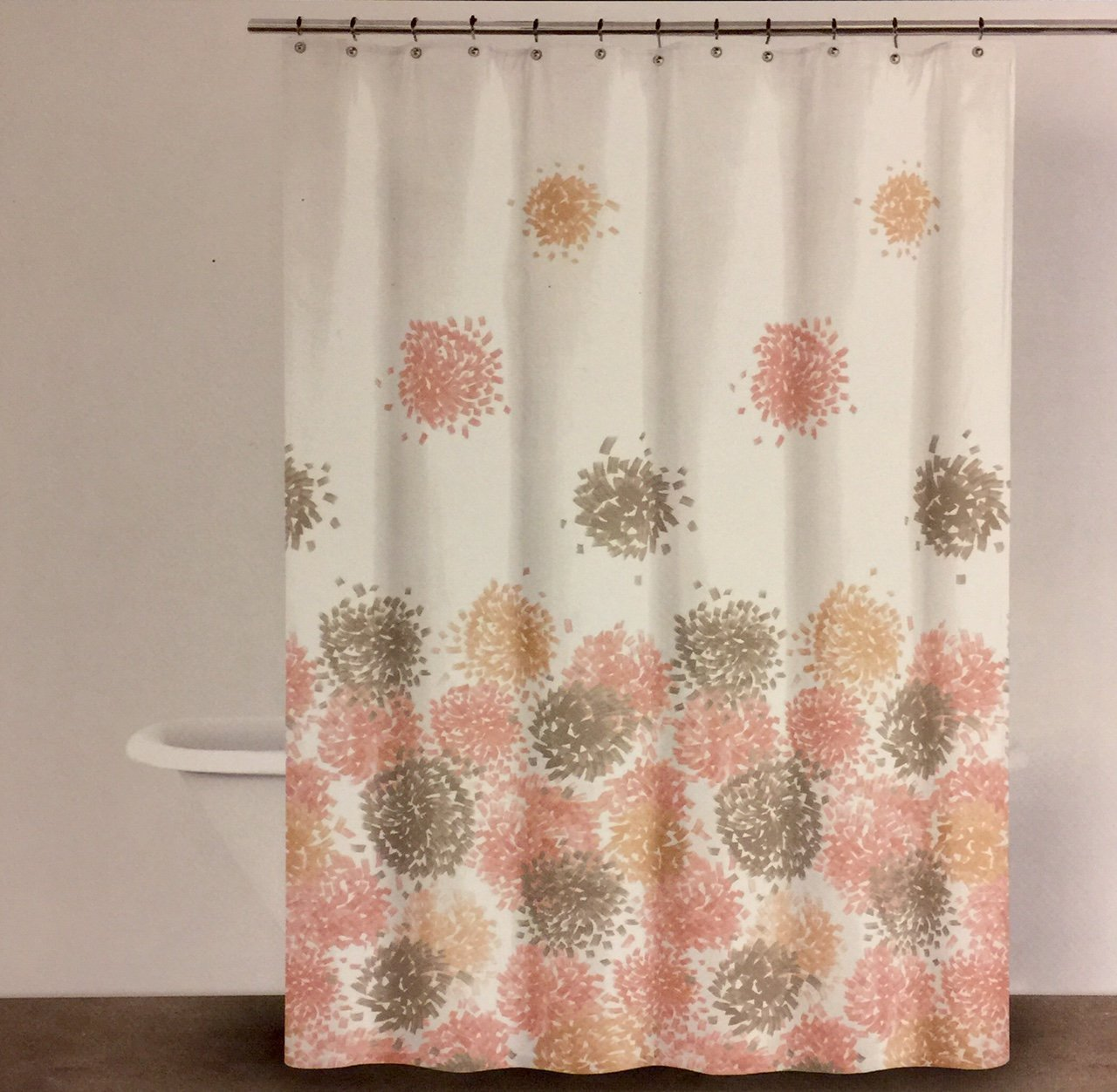 Buy Dkny Brushstroke Floral Aqua Modern Floral Fabric Shower Curtain In Cheap Price On Alibaba Com