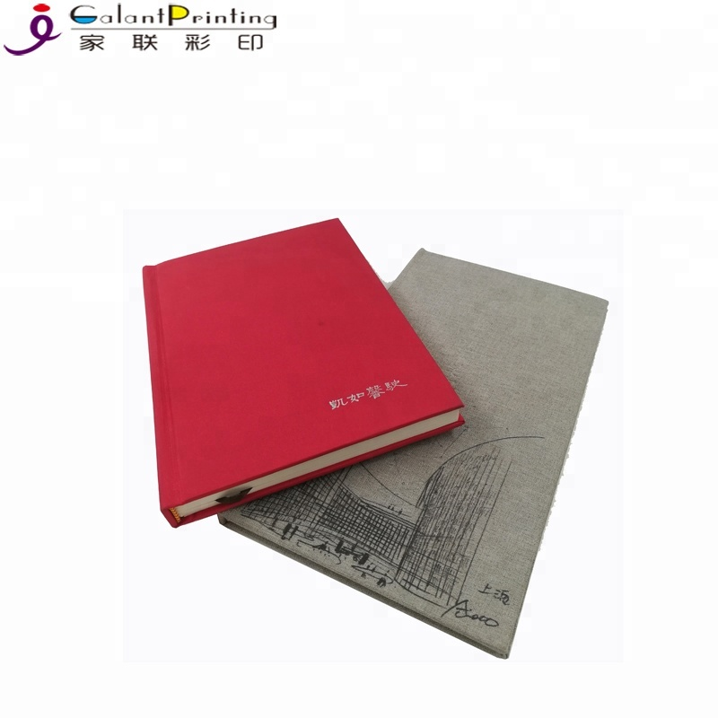 Offset printing customized linen cover wedding guest books album design hardcover latest wedding photo book