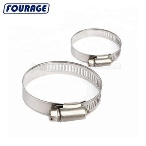 "Flexible 1/2"" (12.7mm) Stainless Steel American Type Worm Drive Gear Spring Pipe Hose Clip / Clamp"
