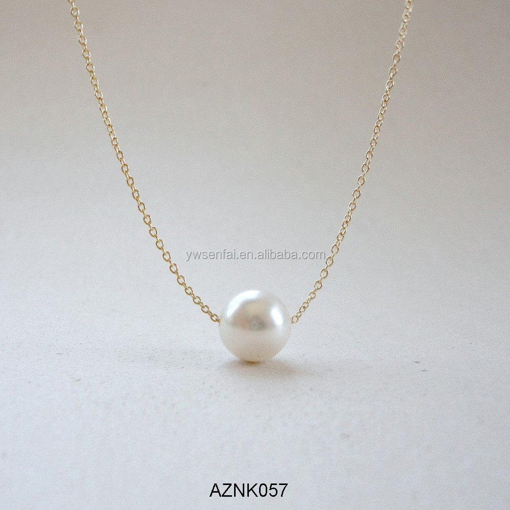 wrapped filled classic elegant pearl necklace product jewelry gold wire original simple