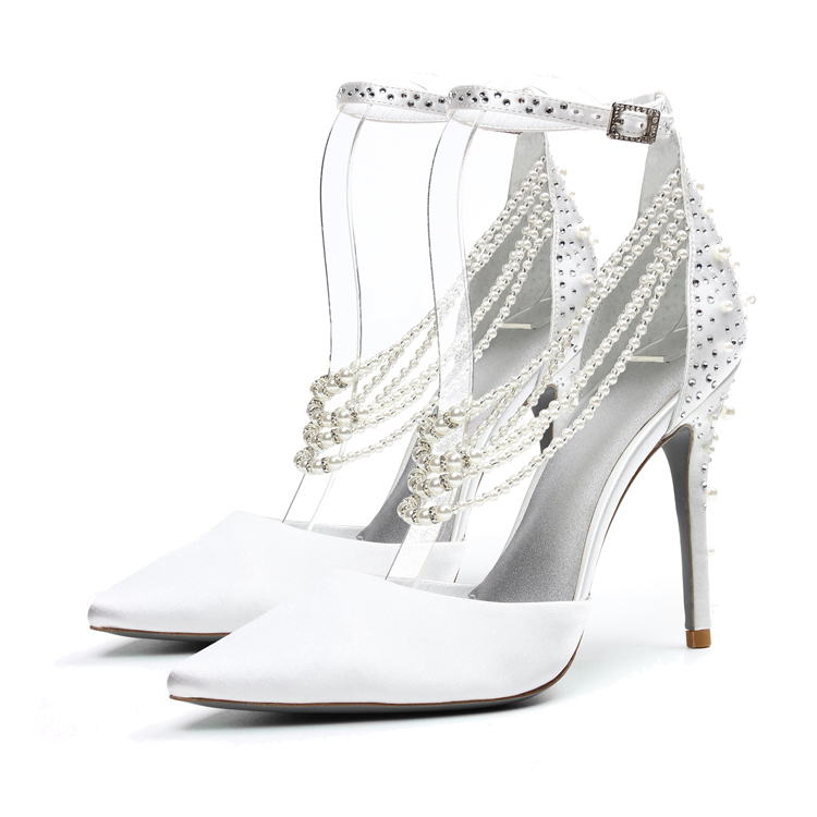 80a9e63ebee New Design Wholesale Fancy Elegant Rhinestone Pearl Ivory White Fabric  Ladies Women Bridal Wedding Shoes - Buy Wedding Shoes Bridal,Wedding ...