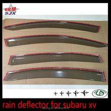 Door visor rear window sun deflector for subaruxv 2015