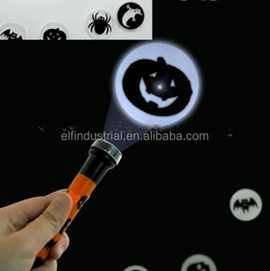 Halloween LED Lighting toys for children mini halloween torch halloween projection flashlight pumpkin design projector torch