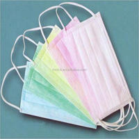 Disposable ISO PP nonwoven 1 2 3 ply Surgical/Food/Medical/Chemical Face Mask