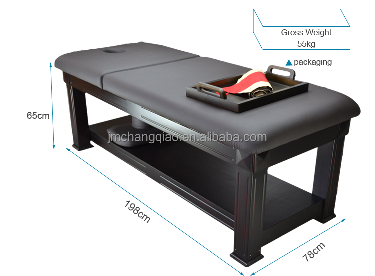 Wooden Massage Bed 811 High Quality Spa Furniture Manual