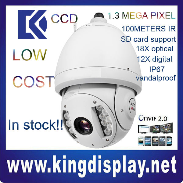 cheapest dahua SD6980-HN SONY CCD ir 100 meters 1.3MP -40 degree use outdoor use ONVIF2.0 perfect video quality