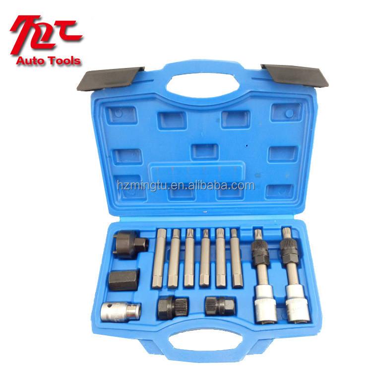 Sincere 13pcs Harmonic Balancer Kit Gear Pulley Puller Steering Wheel Crankshaft Tools Tool Sets