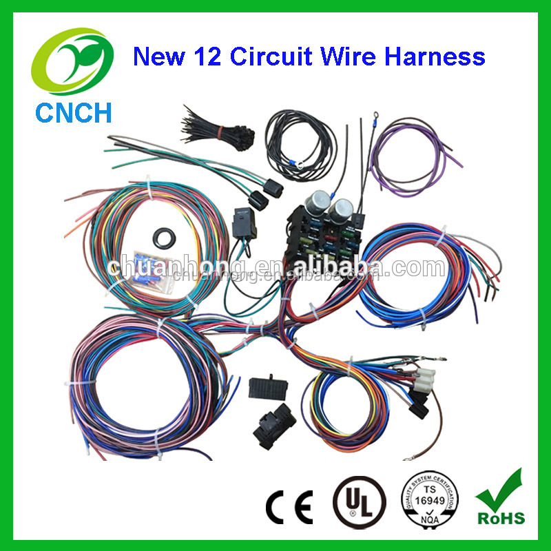 universal 12 circuit wiring harness kits classic long motorsport auto wire Street Hot Rod Custom Wiring Kit
