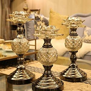 Halloween/Thanksgiving/Christmas/April Fools ' Day Gifts ,Holiday gifts, birthday gifts Day Gifts Neo-classical living room home decorations ornaments glass candle holder device