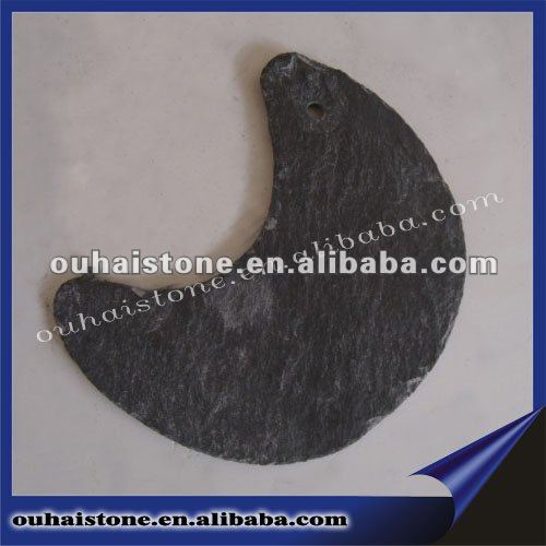 natural slate art and craft in moon shape
