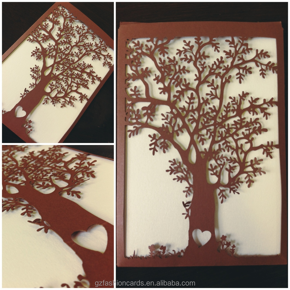 Cuztomized Name New Design Artificial Laser Cut Tree Wedding