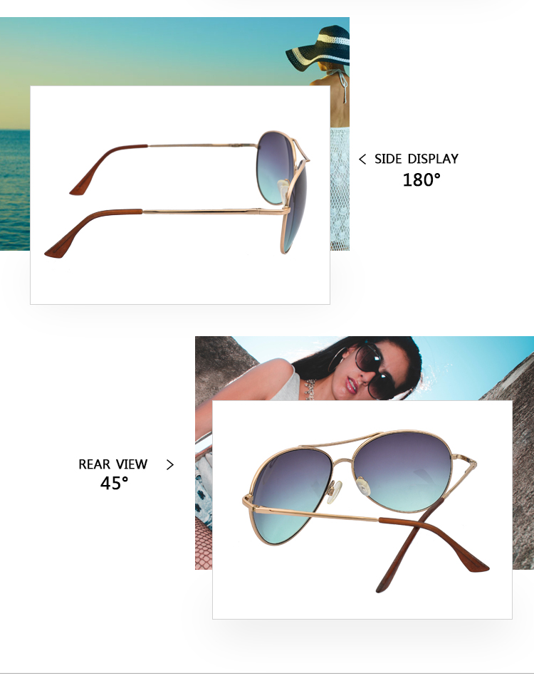 Classic Fashion Pilot Sunglasses metal Driving Pilot Fishing Glasses for men women
