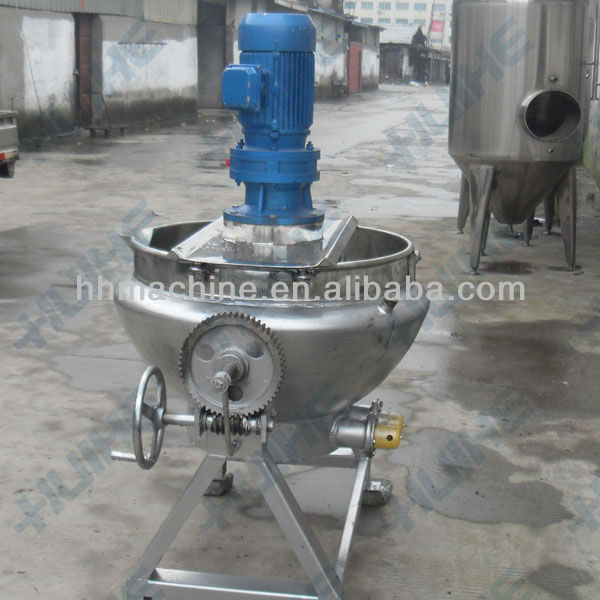 Tilting electric jacketed kettle with agitator/stainless steel