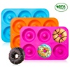 3-Pack Silicone Donut Baking Pan of 100% Nonstick Silicone. BPA Free Mold Sheet Tray. Makes Perfect 3 Inch Donuts.