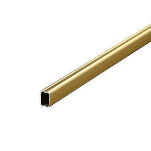 Golden Rectangular 6061 Alloy Groove Extruded Thin Wall Threaded Nineteen Holes Aluminum Square Flat Tube