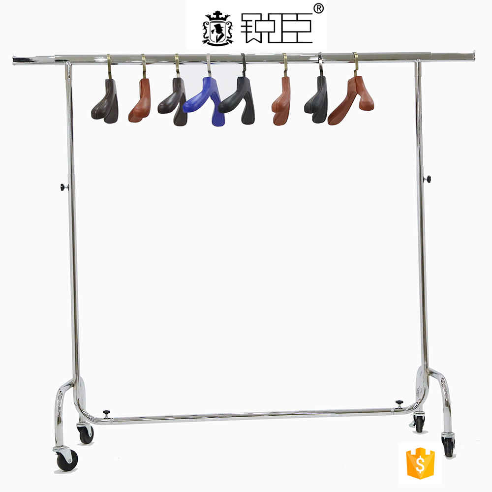 newest and hot sale chrome plated metal clothing display rack SD-004