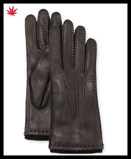 2016 men's cashmere lined deerskin driving gloves